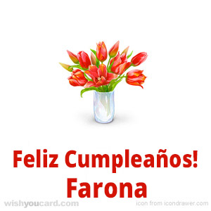happy birthday Farona bouquet card