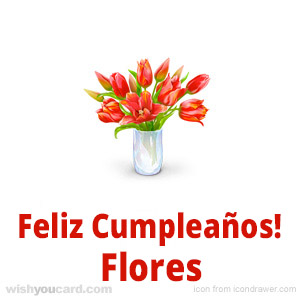 happy birthday Flores bouquet card