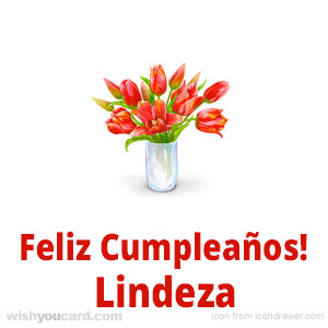 happy birthday Lindeza bouquet card