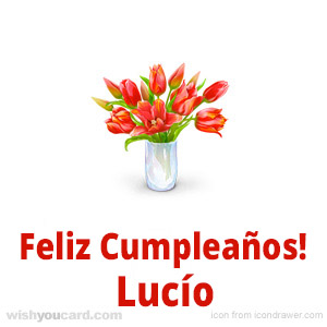 happy birthday Lucío bouquet card
