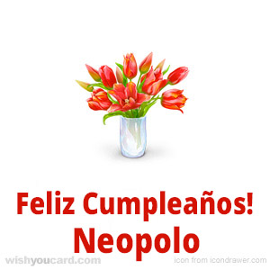 happy birthday Neopolo bouquet card