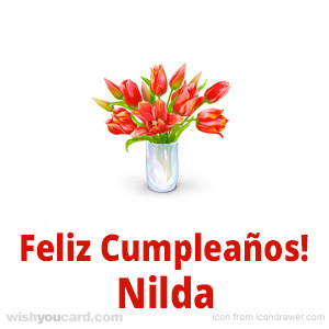 happy birthday Nilda bouquet card