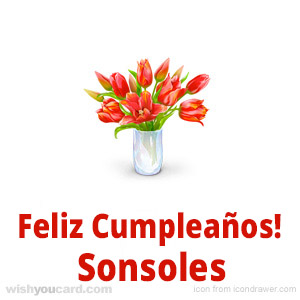 happy birthday Sonsoles bouquet card