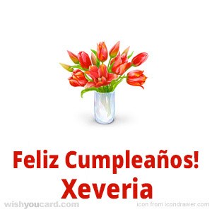 happy birthday Xeveria bouquet card