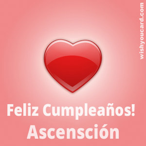 happy birthday Ascensción heart card