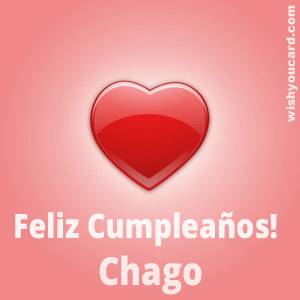 happy birthday Chago heart card