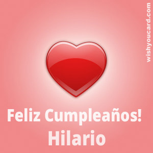 happy birthday Hilario heart card