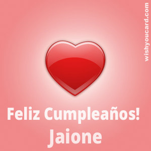 happy birthday Jaione heart card