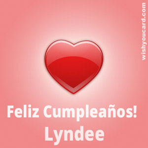 happy birthday Lyndee heart card