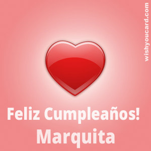 happy birthday Marquita heart card