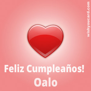 happy birthday Oalo heart card