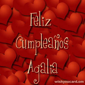 happy birthday Agalia hearts card