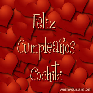 happy birthday Cochiti hearts card
