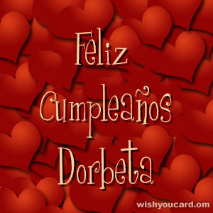 happy birthday Dorbeta hearts card