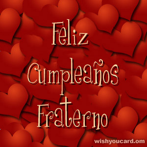 happy birthday Fraterno hearts card