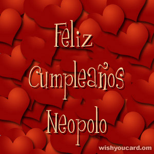 happy birthday Neopolo hearts card