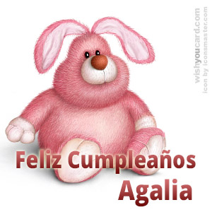 happy birthday Agalia rabbit card