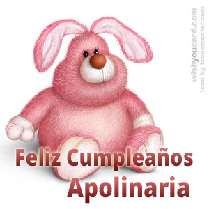 happy birthday Apolinaria rabbit card