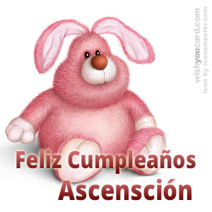 happy birthday Ascensción rabbit card