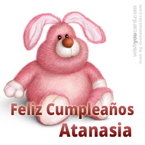 happy birthday Atanasia rabbit card