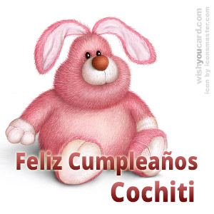 happy birthday Cochiti rabbit card