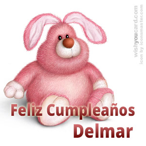 happy birthday Delmar rabbit card