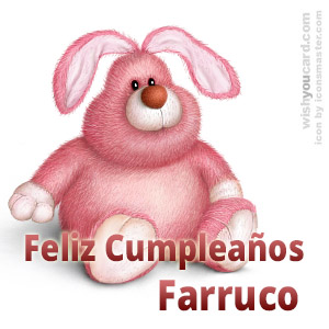 happy birthday Farruco rabbit card
