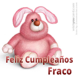 happy birthday Fraco rabbit card
