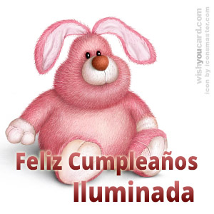 happy birthday Iluminada rabbit card