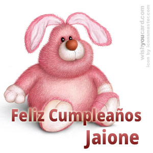 happy birthday Jaione rabbit card