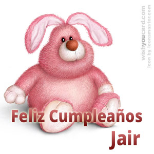 happy birthday Jair rabbit card