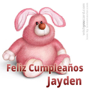happy birthday Jayden rabbit card