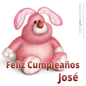 happy birthday José rabbit card