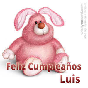 happy birthday Luis rabbit card