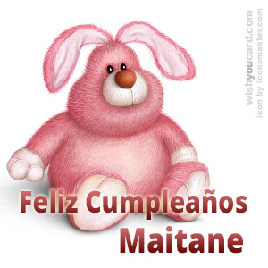 happy birthday Maitane rabbit card