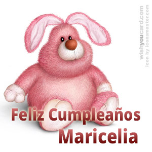 happy birthday Maricelia rabbit card