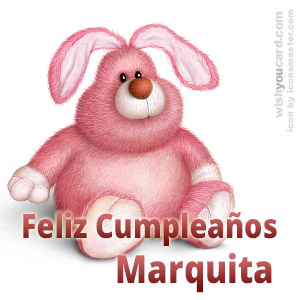 happy birthday Marquita rabbit card