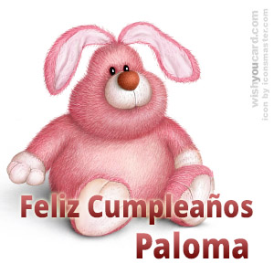 happy birthday Paloma rabbit card