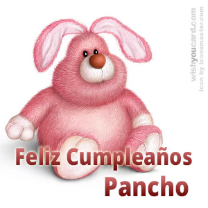 happy birthday Pancho rabbit card