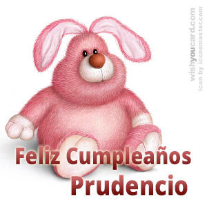 happy birthday Prudencio rabbit card