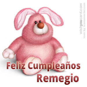 happy birthday Remegio rabbit card