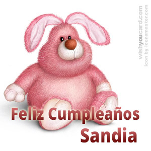 happy birthday Sandia rabbit card