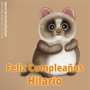 happy birthday Hilario racoon card
