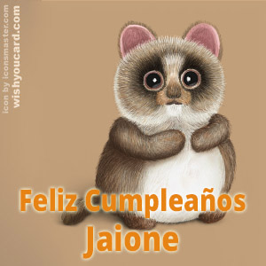 happy birthday Jaione racoon card