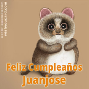 happy birthday Juanjose racoon card