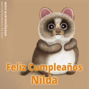 happy birthday Nilda racoon card