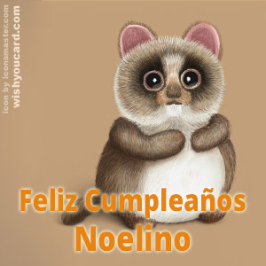 happy birthday Noelino racoon card