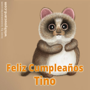 happy birthday Tino racoon card