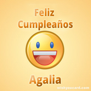 happy birthday Agalia smile card