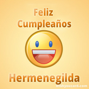 happy birthday Hermenegilda smile card